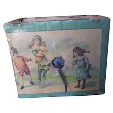 Antique Victorian Era Lithographic Child's Wind-Up Music Box