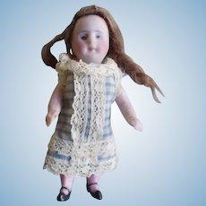 """Antique All Bisque Kestner 3 1/2"""" Doll"""