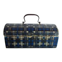Antique Miniature Domed French Fashion Trunk