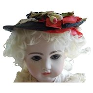 "Vintage Straw Hat for 15"" to 16"" Doll"