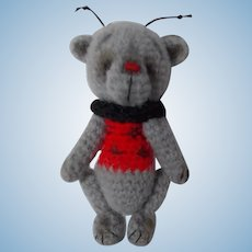 OOAK Artist Made Crocheted Lady Bug Teddy Bear