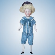 "Antique 5 1/2"" Miniature Boy Doll"