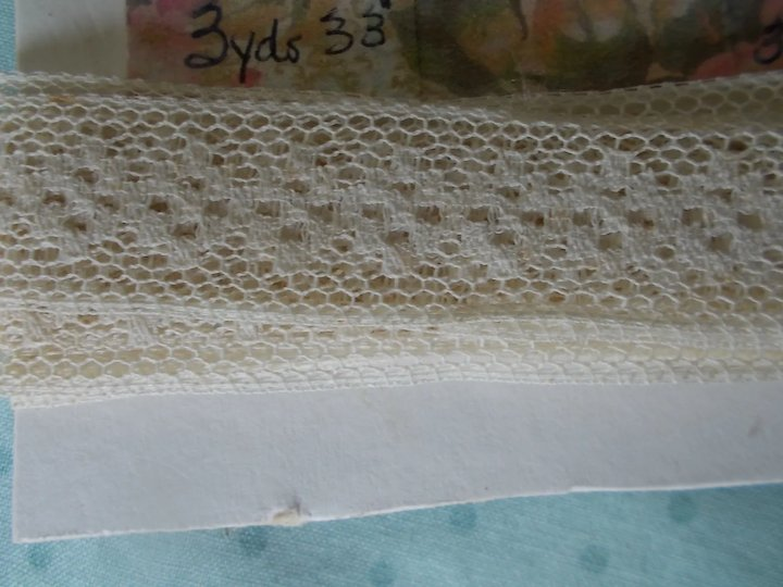 Lot of Three Vintage Cotton Laces for Doll Clothing