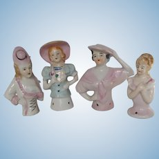 Lot of 4 Vintage Half Dolls