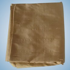 Pale Gold Silk Taffeta Fabric For Doll Clothes
