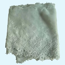 """30"""" Early 1900's Era Fine Netting Lace for Dolls"""