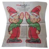 Vintage 1948 Kellogg's Uncut Advertisement Cloth Doll