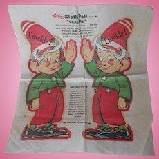 Vintage 1948 Kellogg's Uncut Advertisement Cloth Doll
