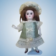 Silk and Lace Dress and Hat for All Bisque Mignonette Doll