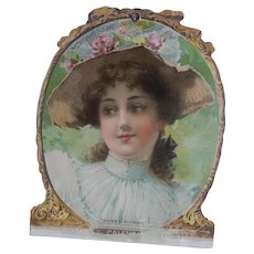 Antique Victorian Era Calendar Page  - Ad for Sarsaparilla