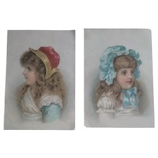 Two Antique Victorian Era Advertising Trade Cards - Yeast Powder