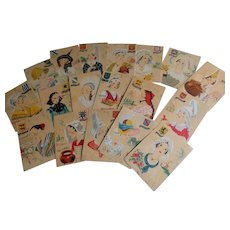 Large Lot of 18 French Postcards From 1943