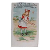 Antique Victorian Era Trade Card for Clothes and Shoes