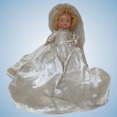 Sweetest Little Vintage Bride Doll