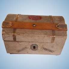 Antique Doll Size Domed Trunk