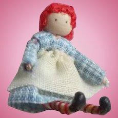 Miniature One-of-a-Kind Artist Made Raggedy Ann Doll