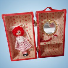 Miniature One-of-a-Kind Artist Made Raggedy Ann Doll With Extras