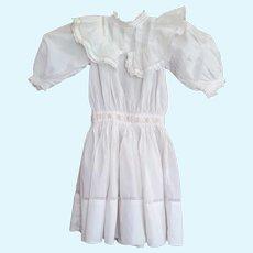 Antique Cotton Dress for Large Doll