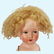 Artist Made Mohair Skin Wig for Doll