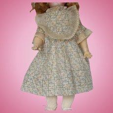 "Fine Cotton Print Vintage Dress for 14"" Doll"