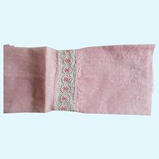 Early 1900's Edwardian Era Cotton Print Fabric For Dolls