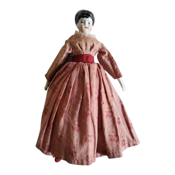 "8"" Antique Lady China Head Doll"