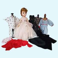 Vintage Mid Century Fashion Doll with Wardrobe