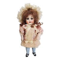 """Two-Piece Dress and Hat for 7"""" All Bisque Antique Doll"""