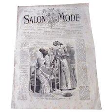 """1890 French Fashion Magazine """"Salon de Mode"""""""