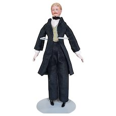 Rare Antique Edwardian Era Miniature Male Doll