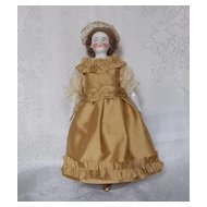 "Antique 9"" Biedermeier Doll"