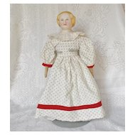 "Antique 12"" Parian Doll with Clothes"