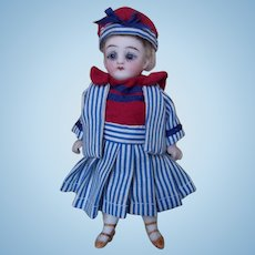 """Antique 5"""" All Bisque Doll"""