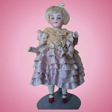"""Antique 6"""" Bruno Schmitt All Bisque Doll"""