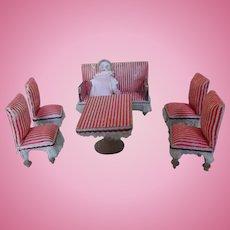 Antique Doll House German Parlor/Salon Set