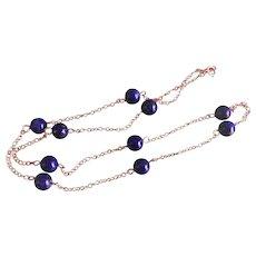 14k Lapis Lazuli Chain Necklace