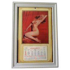 "1955 Marilyn Monroe ""Golden Dreams"" Authentic Calendar Framed"