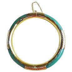 Vintage Chinese Export 1960's Aventurine Bracelet