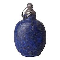 Vintage Chinese Lapis Lazuli Snuff Bottle