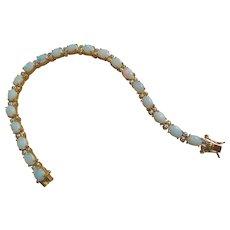 White Opal Bracelet 7.5 Inches Length