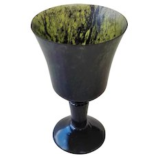 Vintage 1900's  Chinese Export Translucent Green Jade Cup Glass