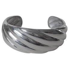 Vintage Sterling Silver Swirl Cuff