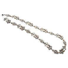 Vintage Mid 1900's Danish Sterling Silver Necklace 21 Inches Length