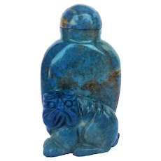 Antique Chinese Qing Dynasty Lapis Lazuli Snuff Bottle