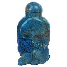 Antique Chinese Qing Dynasty Lapis Lazuli Snuff Bottle