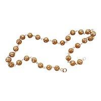 Vintage 1920's Chinese Art Deco Gold Vermeil Filigree Necklace