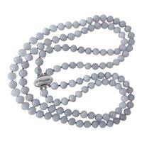 Translucent Lavender Jadeite Two Strand Necklace