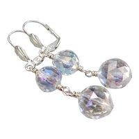 Pools Of Light Rock Quartz Crystal Sterling Silver Earrings
