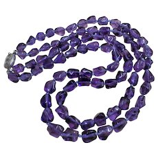 Chinese Export Art Deco Amethyst 2 Strand Necklace