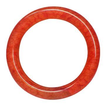 Chinese Chicken Blood Stone Bangle 58 mm Inner Diameter